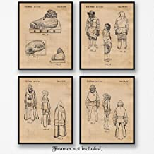 Original Star Wars Characters Patent Poster Prints, Set of 4 (8x10) Unframed Photos, Great Wall Art Decor Gifts Under 20 for Home, Office, Garage, Man Cave, Student, Teacher, Comic-Con & Movies Fan