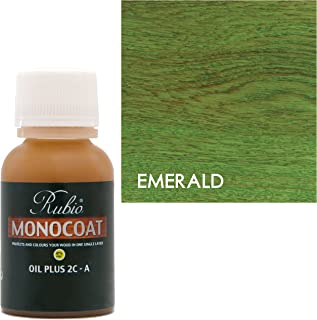 Rubio Monocoat Oil Plus 2C-A Sample Wood Stain Emerald 20ml