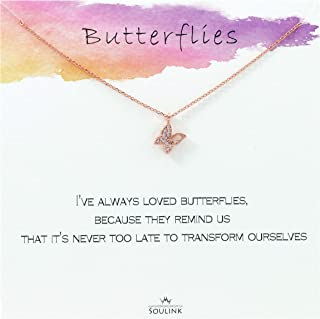Never Too Late to Transform Butterfly Necklace