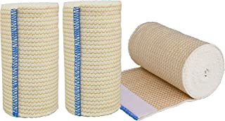 """NexSkin Elastic Compression Wrap (4"""" Wide, 3 Pack) with Hook and Loop Fasteners at Both Ends 