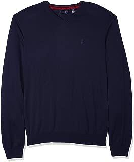 Men's Slim Fit Premium Essentials Solid V-Neck 12 Gauge Sweater