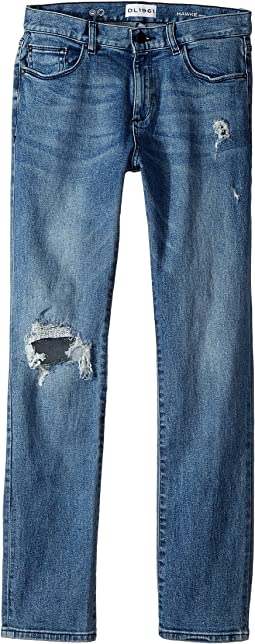DL1961 Kids - Light Wash Distressed Skinny Jeans in Crater Lake (Big Kids)
