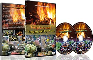 Fire and Fish - 2 DVD set Fireplace and Tropical Reef Aquarium 2016