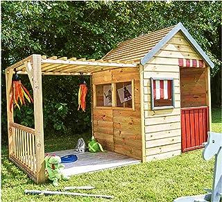 XXL Kinderspielhaus Mit Veranda Aus Holz Grosses Spielhaus Gartenhaus Fur Kinder