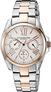Stuhrling Original Women's Quartz Watch with Silver Dial Analogue Display and Two Tone Stainless Steel Bracelet 494.03