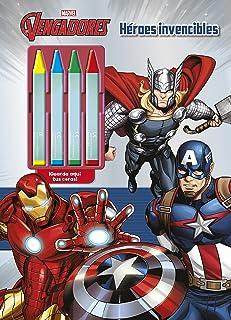 Los Vengadores. Héroes invencibles: Colorear con ceras (Marvel. Los Vengadores)