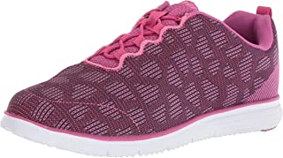 Propet Women's TravelFit Sneaker, Berry, 6 4E US