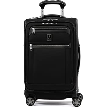 Travelpro Platinum Elite - Softside Expandable Spinner Wheel Luggage, Shadow Black, Carry-On 21-Inch