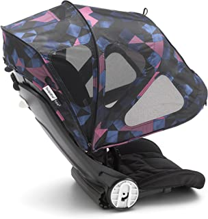 Bugaboo Bee Breezy Sun Canopy, Birds Print - Extendable Sun Canopy with UPF Sun Protection and Mesh Ventilation Panels
