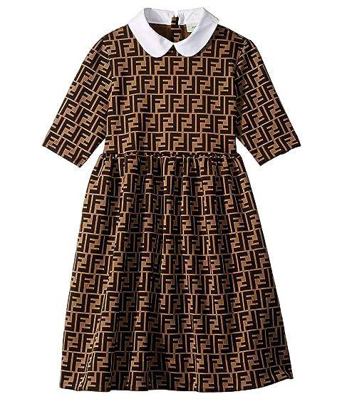 Fendi Kids Logo Dress (Big Kids)
