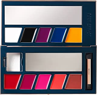 PONY EFFECT Customizing Lip Palette 11g, 0.38 Ounces, Lip color, Lip makeup, 10 Color Create Customizing Colors, With Dual Lip Brush, Play Lipstick