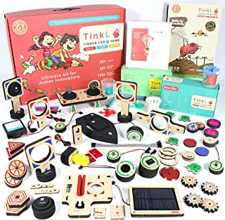 ButterflyEduFields 100 DIY Toys in a Box Science Project Kits - Robots Cars Gun Shooters, Science Experiment Kit Best  Kid...