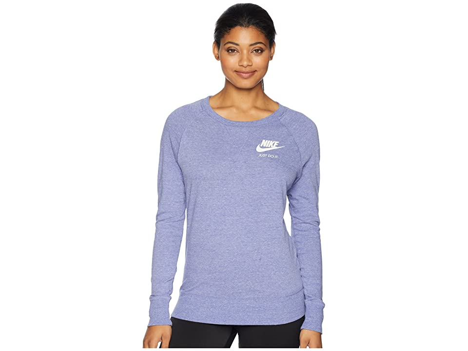 Nike Sportswear Gym Vintage Crew (Purple Slate/Sail) Women