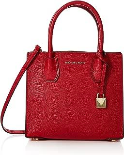 MICHAEL Michael Kors Women's Mercer Messenger Bag, Bright Red, One Size