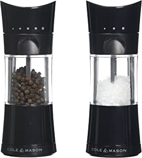 Cole & Mason Harrogate Inverta Salt and Pepper Mill Gift Set, Black, 15.5 cm