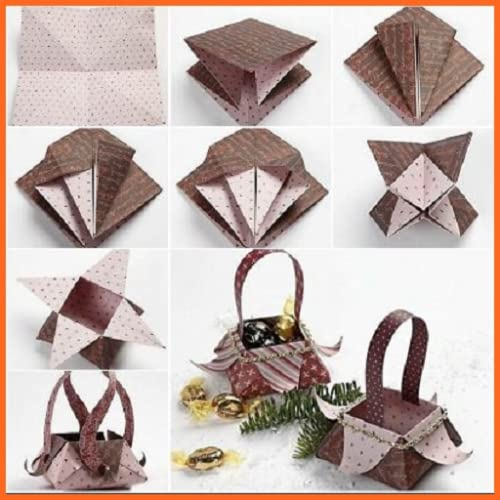 DIY Paper Origami Gift Box Lid Instructions