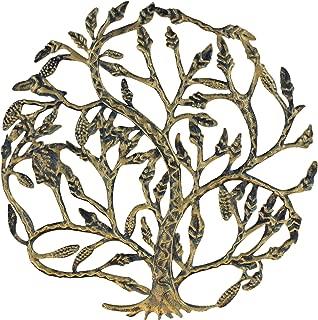 Top Brass Metal Tree of Life Wall Plaque 14 Inches Decorative Spiritual Celtic Garden Art Sculpture