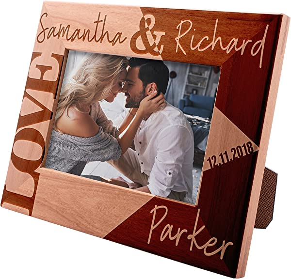 Personalized Picture Frames 4x6 5x7 8x10 Love Personalized Romantic Wedding Photo Frame Engagement Valentine S Day Wedding Gifts For The Couple