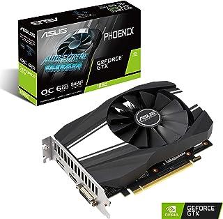 بطاقة رسومات ASUS GeForce GTX 1660 ذات سرعة ثابتة 6 جيجابايت من Phoenix Fan Edition HDMI DP DVI (PH-GTX1660-O6G)
