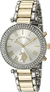 U.S. Polo Assn. Women's Quartz Watch, Analog Display and Gold Plated Strap USC40171