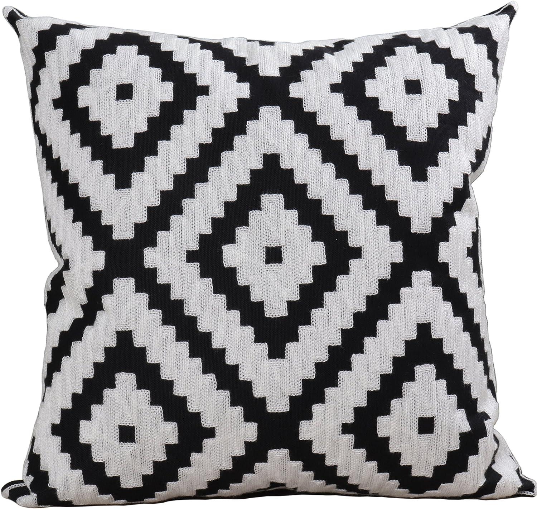 Bridgeso Soft Cushion Long-awaited Ultra-Cheap Deals Case Geometric Minimalist Embroide Pattern