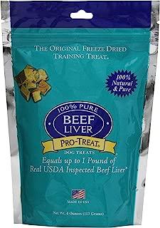 Stewart Pro-Treat, Freeze Dried Beef Liver Dog Treats, Single Ingredient, Grain Free, USA Made