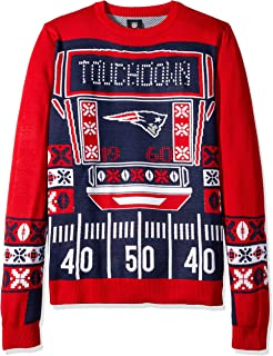 new england patriots ugly christmas sweater light up