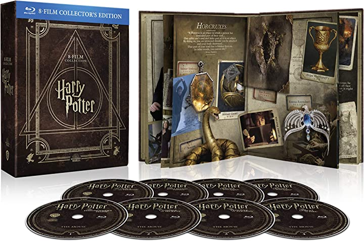 Harry potter magical collection (8 blu ray) - cofanetto con copertina in similpelle, edizione digibook(32 pag) B083YKR9VP