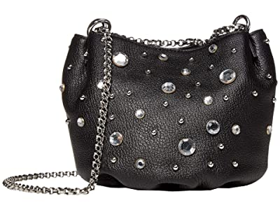 Rebecca Minkoff Ruby Crossbody w/ Crystals (Black) Handbags