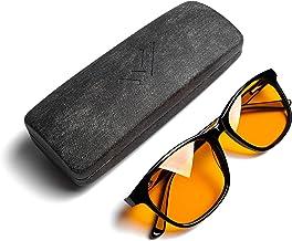 the HEALTH LISTS Blue Light Blocking Reading Glasses +1.00 for Better Sleep - Amber Orange Computer Filter Anti Eye Strain...