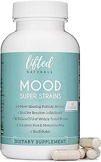 Probiotics - Mood Super Strains Probiotic - Naturally Supports Digestion & Emotional Health - Histamine-Free Probiotics w/...