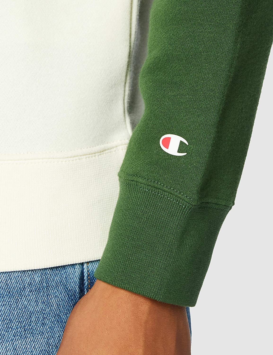 Champion Men's Seasonal Raglan Sweatshirt Homme Green (Ww024)