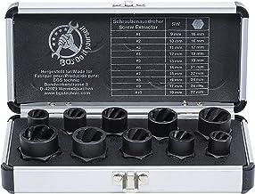 BGS Diy 20210 | Spiralprofil hylsnyckeluppsättning/skruvmejsel | 10 mm (3/8 tum)/utvändig sexkantig | SW 9 – 19 mm | 10 st.