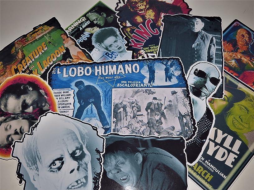 Horror Movie The Classics Vinyl Stickers Decals Set of 11 Laptop Skateboard Car Van Light Pole Guitar Case (Permanent)