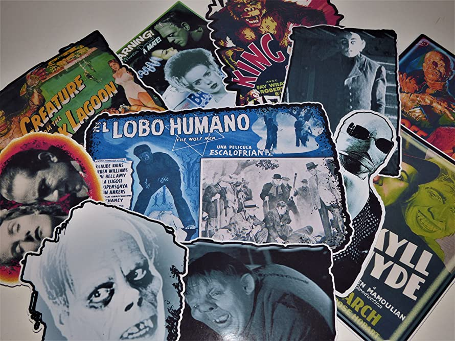 Horror Movie The Classics Vinyl Stickers Decals Set of 11 Laptop Skateboard Car Van Light Pole Guitar Case (Permanent)