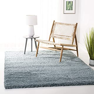Safavieh California Premium Shag Collection SG151-6060 Light Blue Area Rug (5'3