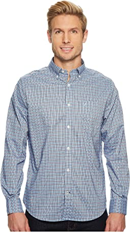 Nautica - Long Sleeve Wear to Work Med Plaid Shirt