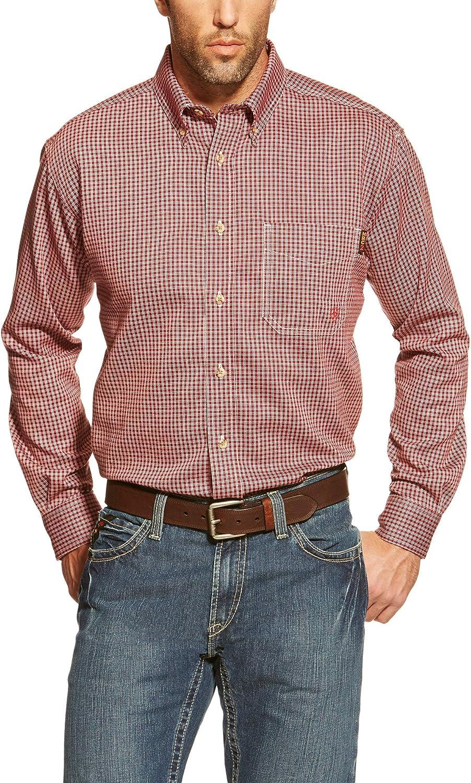 Ariat Men/'s FR Brandied Melon Excavator Button-Up Work Shirt 10030325
