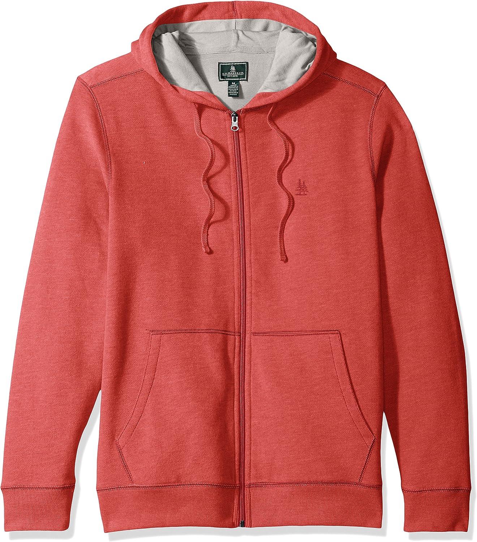G.H. Bass & Co. Men's Mountain Long Sleeve Full Zip Sueded Fleece Hoodie Sweatshirt