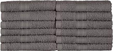 Daloual 3/X asciugamano asciugamano ospite in cotone a nido d ape 100/x 50/cm//bagno Antracite