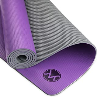 Youphoria Yoga Mat, 24 in x 72 in x 6mm, Lightweight and Absorbent Non Slip Yoga Mats for Hot Yoga, Home Yoga or Travel Yoga, Premi-OM Hot Yoga Mat