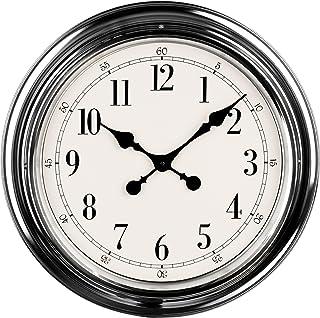 Premier Housewares Wall Clock - Chrome
