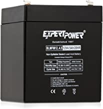 ExpertPower EXP1245  Home Alarm Security Battery Replacement  Black  12V 4.5AH  Absorbent Glass Mat  1 pack