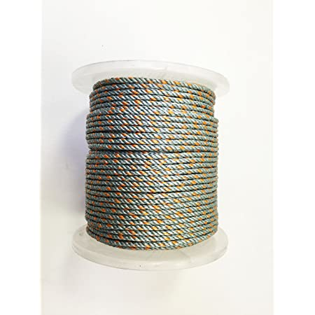 "KUFA Sports 300-Foot Leaded Rope Coil with 5/16"" Diameter for Crab Trap LP300 Fishing Nets, Gray"