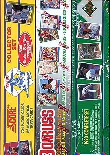 1990 Score Upper Deck 1991 Donruss Baseball Card Complete Box set Collection