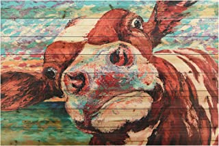 Empire Art Direct Curious Cow 3 Digital Print on Solid Wood Animal Wall Art, 30