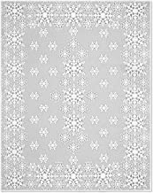 Heritage Lace 70 by 90-Inch Glisten with Glitter Tablecloth, Rectangle, White