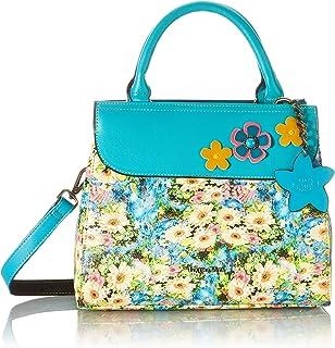 Laura Vita Womens 4130 Sling, Handle Bag, Turquoise, Medium