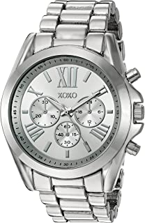 XOXO Women's Quartz Stainless Steel and Alloy Casual Watch, Color:Silver-Toned (Model: XO5842)