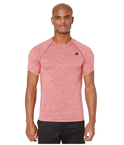 New Balance Tenacity Short Sleeve Tee (Team Red) Men